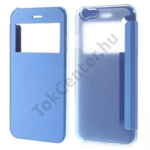 Apple iPhone 6 4.7`` Műanyag telefonvédő (bőr flip, oldalra nyíló, átlátszó hátlap, S-View Cover) VILÁGOSKÉK