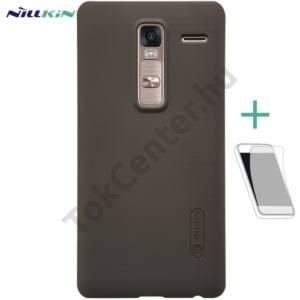 LG Zero (H650E) NILLKIN SUPER FROSTED műanyag telefonvédő (gumírozott, érdes felület, képernyővédő fólia, tisztítókendő) BARNA