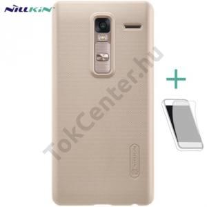 LG Zero (H650E) NILLKIN SUPER FROSTED műanyag telefonvédő (gumírozott, érdes felület, képernyővédő fólia, tisztítókendő) ARANY