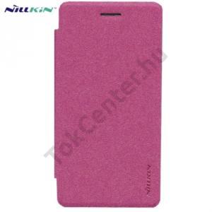 LG Zero (H650E) NILLKIN SPARKLE műanyag telefonvédő (mikroszálas bőr flip, oldalra nyíló) RÓZSASZÍN