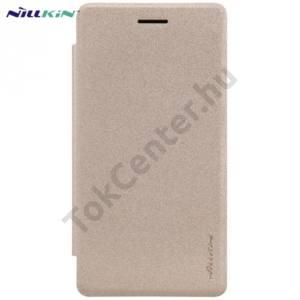 LG Zero (H650E) NILLKIN SPARKLE műanyag telefonvédő (mikroszálas bőr flip, oldalra nyíló) ARANY