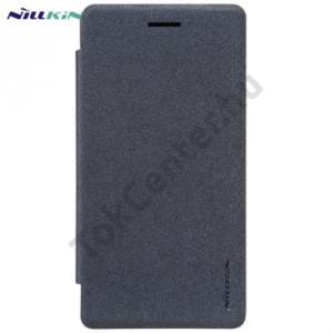 LG Zero (H650E) NILLKIN SPARKLE műanyag telefonvédő (mikroszálas bőr flip, oldalra nyíló) FEKETE