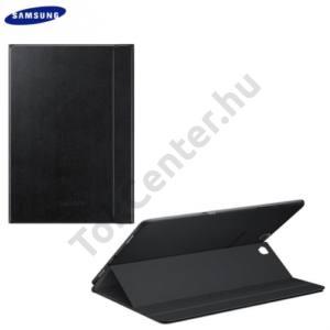 Samsung Galaxy Tab A 9.7 (SM-T550) WIFI Műanyag telefonvédő (FLIP, oldalra nyíló, asztali tartó funkció) FEKETE
