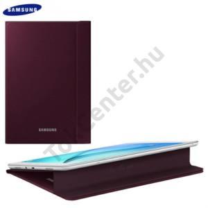 Samsung Galaxy Tab A 9.7 (SM-T550) WIFI Műanyag telefonvédő (FLIP, oldalra nyíló, asztali tartó funkció) BORDÓ