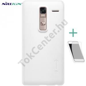 LG Zero (H650E) NILLKIN SUPER FROSTED műanyag telefonvédő (gumírozott, érdes felület, képernyővédő fólia, tisztítókendő) FEHÉR