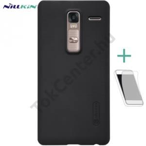LG Zero (H650E) NILLKIN SUPER FROSTED műanyag telefonvédő (gumírozott, érdes felület, képernyővédő fólia, tisztítókendő) FEKETE