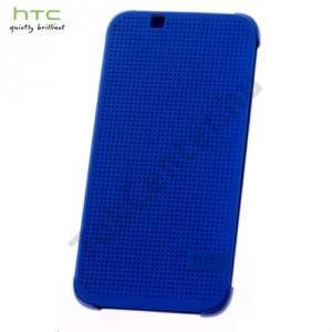 HTC Desire 510 Műanyag telefonvédő (FLIP, oldalra nyíló, pontmátrix kialakítás) KÉK