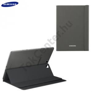 Samsung Galaxy Tab A 9.7 (SM-T550) WIFI Műanyag telefonvédő (FLIP, oldalra nyíló, asztali tartó funkció) DARK TITANIUM