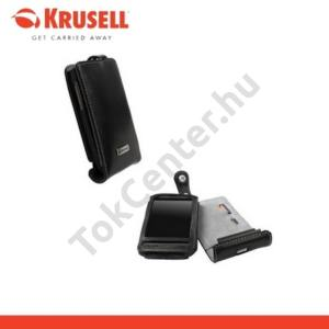 HTC Desire (Bravo KRUSELL ORBIT FLEX álló bőrtok (övcsipesz) FEKETE/SZÜRKE