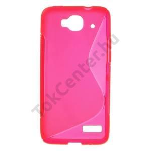 Alcatel Idol Mini (OT-6012D) Telefonvédő gumi / szilikon (S-line) MAGENTA