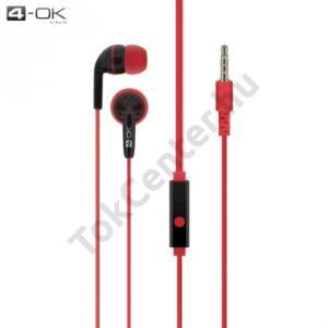 4-OK james bond SZTEREO (3.5 mm, felvevő gomb, mikrofon) PIROS