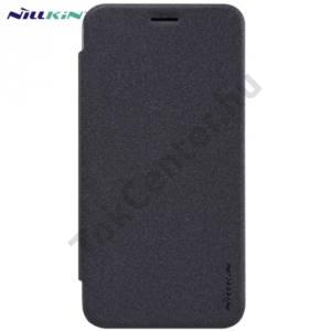 Asus Zenfone 2 (ZE500CL) NILLKIN SPARKLE műanyag telefonvédő (mikroszálas bőr flip, oldalra nyíló) FEKETE