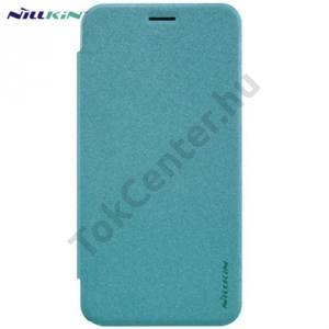 Asus Zenfone 2 (ZE500CL) NILLKIN SPARKLE műanyag telefonvédő (mikroszálas bőr flip, oldalra nyíló) VILÁGOSKÉK