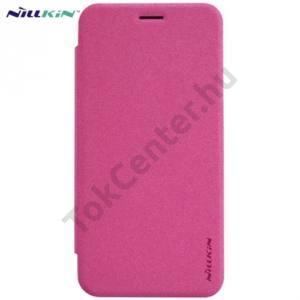 Asus Zenfone 2 (ZE500CL) NILLKIN SPARKLE műanyag telefonvédő (mikroszálas bőr flip, oldalra nyíló) MAGENTA