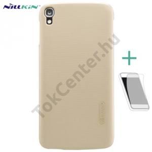 Alcatel Idol 3 5.5`` (OT-6045Y) NILLKIN SUPER FROSTED műanyag telefonvédő (gumírozott, érdes felület, képernyővédő fólia) ARANY