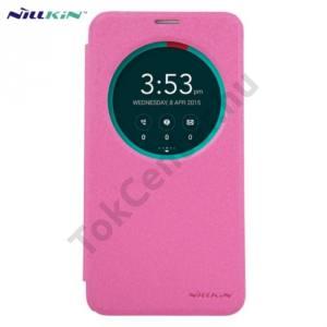 Asus Zenfone 2 (ZE551ML) NILLKIN SPARKLE műanyag telefonvédő (mikroszálas bőr flip, oldalra nyíló, S-View Cover) MAGENTA