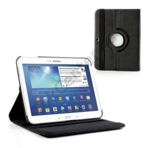 Samsung Galaxy Tab3 10.1 (P5200) Tok álló, bőr (FLIP, asztali tartó funkció, 360°-ban forgatható) FEKETE