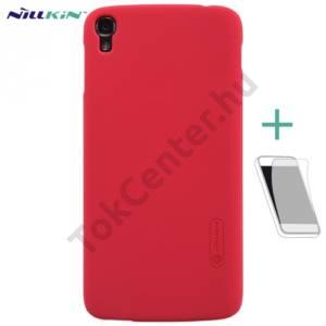 Alcatel Idol 3 5.5`` (OT-6045Y) NILLKIN SUPER FROSTED műanyag telefonvédő (gumírozott, érdes felület, képernyővédő fólia) PIROS