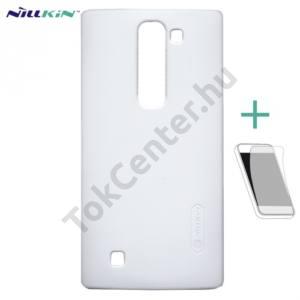 LG Magna (C90) NILLKIN SUPER FROSTED műanyag telefonvédő (gumírozott, érdes felület, képernyővédő fólia, tisztítókendő) FEHÉR