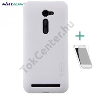 Asus Zenfone 2 (ZE500CL) NILLKIN SUPER FROSTED műanyag telefonvédő (gumírozott, képernyővédő fólia, tisztítókendő) FEHÉR