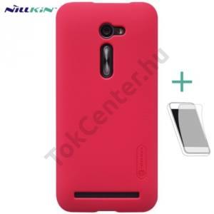 Asus Zenfone 2 (ZE500CL) NILLKIN SUPER FROSTED műanyag telefonvédő (gumírozott, képernyővédő fólia, tisztítókendő) MAGENTA