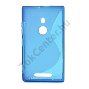 Nokia Lumia 925 Telefonvédő gumi / szilikon (S-line) ÁTLÁTSZÓ KÉK