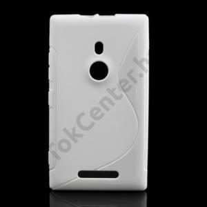 Nokia Lumia 925 Telefonvédő gumi / szilikon (S-line) FEHÉR
