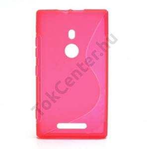 Nokia Lumia 925 Telefonvédő gumi / szilikon (S-line) ÁTLÁTSZÓ RÓZSASZÍN