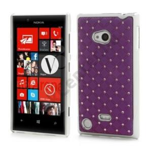 Nokia Lumia 720 Műanyag telefonvédő (strasszkő) LILA