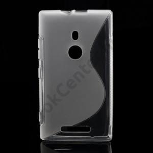 Nokia Lumia 925 Telefonvédő gumi / szilikon (S-line) ÁTLÁTSZÓ
