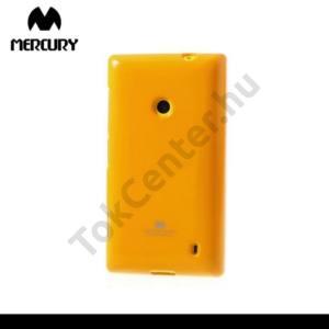 Nokia Lumia 520 MERCURY Goospery telefonvédő gumi / szilikon (csillámporos) NARANCS