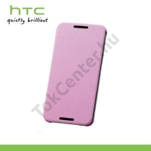 HTC Desire 610 Műanyag telefonvédő (FLIP, oldalra nyíló) RÓZSASZÍN
