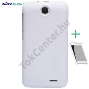 HTC Desire 310 NILLKIN SUPER FROSTED műanyag telefonvédő (gumírozott, érdes felület, képernyővédő fólia, tisztítókendő) FEHÉR