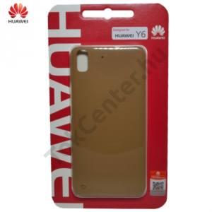 Huawei Y6 Műanyag telefonvédő (ultravékony, 0.8 mm) BÉZS