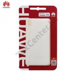 Huawei Y6 Műanyag telefonvédő (ultravékony, 0.8 mm) FEHÉR