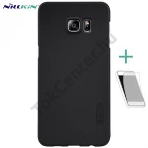 Samsung Galaxy S6 EDGE + (SM-G928) NILLKIN SUPER FROSTED műanyag telefonvédő (gumírozott, érdes felület, képernyővédő fólia) FEKETE
