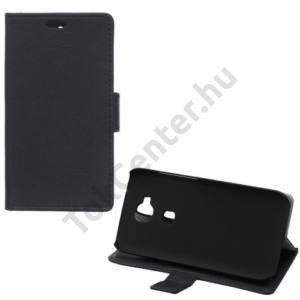 Huawei G8 Tok álló, bőr (FLIP, oldalra nyíló, asztali tartó funkció) FEKETE