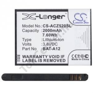 Acer Liquid Z520 Akku 2000 mAh LI-ION (BAT-A12 kompatibilis)