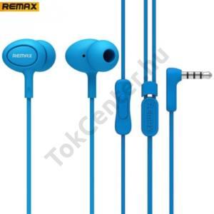 REMAX james bond SZTEREO (3.5 mm jack, felvevő gomb, 3 pár fülgumi) KÉK