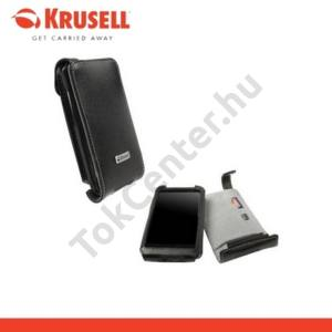 HTC Desire HD (Ace KRUSELL ORBIT FLEX álló bőrtok (övcsipesz) FEKETE/SZÜRKE
