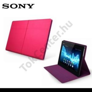 Sony Xperia Tablet S Tok fekvő, velúr, (asztali tartó) RÓZSASZÍN