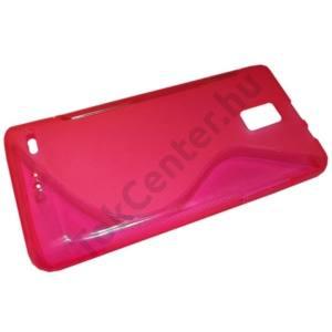 Huawei Ascend P1 Telefonvédő gumi / szilikon (S-line) RÓZSASZÍN