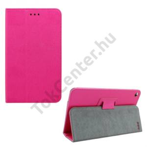 Huawei Mediapad T1 7 Tok álló, bőr (FLIP, oldalra nyíló, asztali tartó funkció) MAGENTA