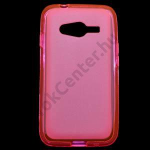 Samsung Galaxy Ace NXT (SM-G313H) Telefonvédő gumi / szilikon (fényes keret) RÓZSASZÍN