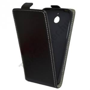 HTC Desire 510 Tok álló, bőr (FLIP, mágneses) FEKETE