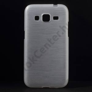 Samsung Galaxy Core Prime (SM-G360) Telefonvédő gumi / szilikon (szálcsiszolt mintázat) ÁTLÁTSZÓ