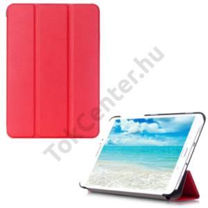 Samsung Galaxy Tab S2 9.7 (SM-T810) WIFI Tok álló, bőr (FLIP, oldalra nyíló, TRIFOLD asztali tartó funkció) PIROS