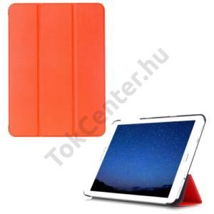 Samsung Galaxy Tab S2 9.7 (SM-T810) WIFI Tok álló, bőr (FLIP, oldalra nyíló, TRIFOLD asztali tartó funkció) NARANCS
