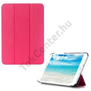 Samsung Galaxy Tab S2 9.7 (SM-T810) WIFI Tok álló, bőr (FLIP, oldalra nyíló, TRIFOLD asztali tartó funkció) MAGENTA