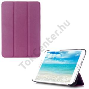 Samsung Galaxy Tab S2 8.0 (SM-T710) WIFI Tok álló, bőr (FLIP, oldalra nyíló, TRIFOLD asztali tartó funkció) LILA
